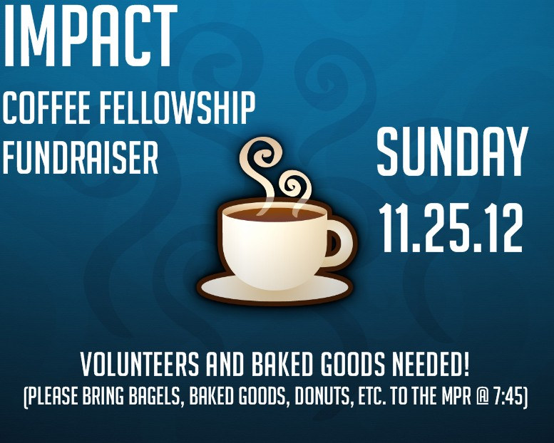 Coffee Fellowship THIS SUNDAY for England